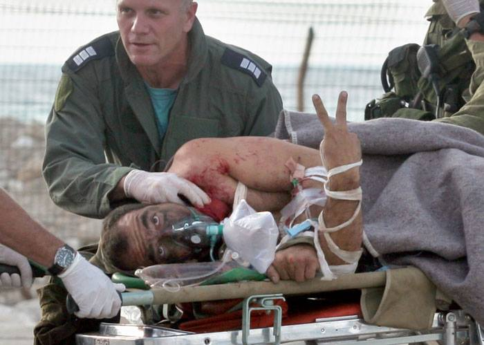 Injured IDF Soldier Being Evacuated