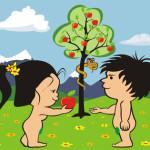Adam and Eve Cartoon