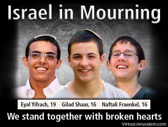 Israel Mourning 3 Sons