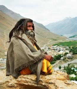 Indian monk sadhu
