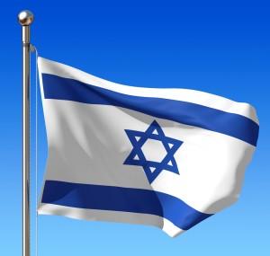 Israel Flag on Flagpole
