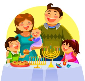 chanukah family cartoon