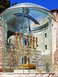 Golden Menorah in Jerusalem