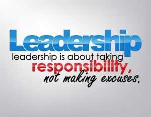 Leadership is about taking responsibility