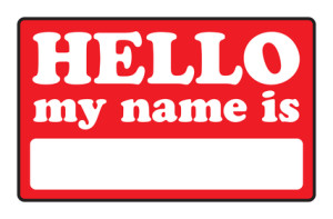 Hello My Name Is Tags
