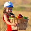 Girl Bringing First Fruits